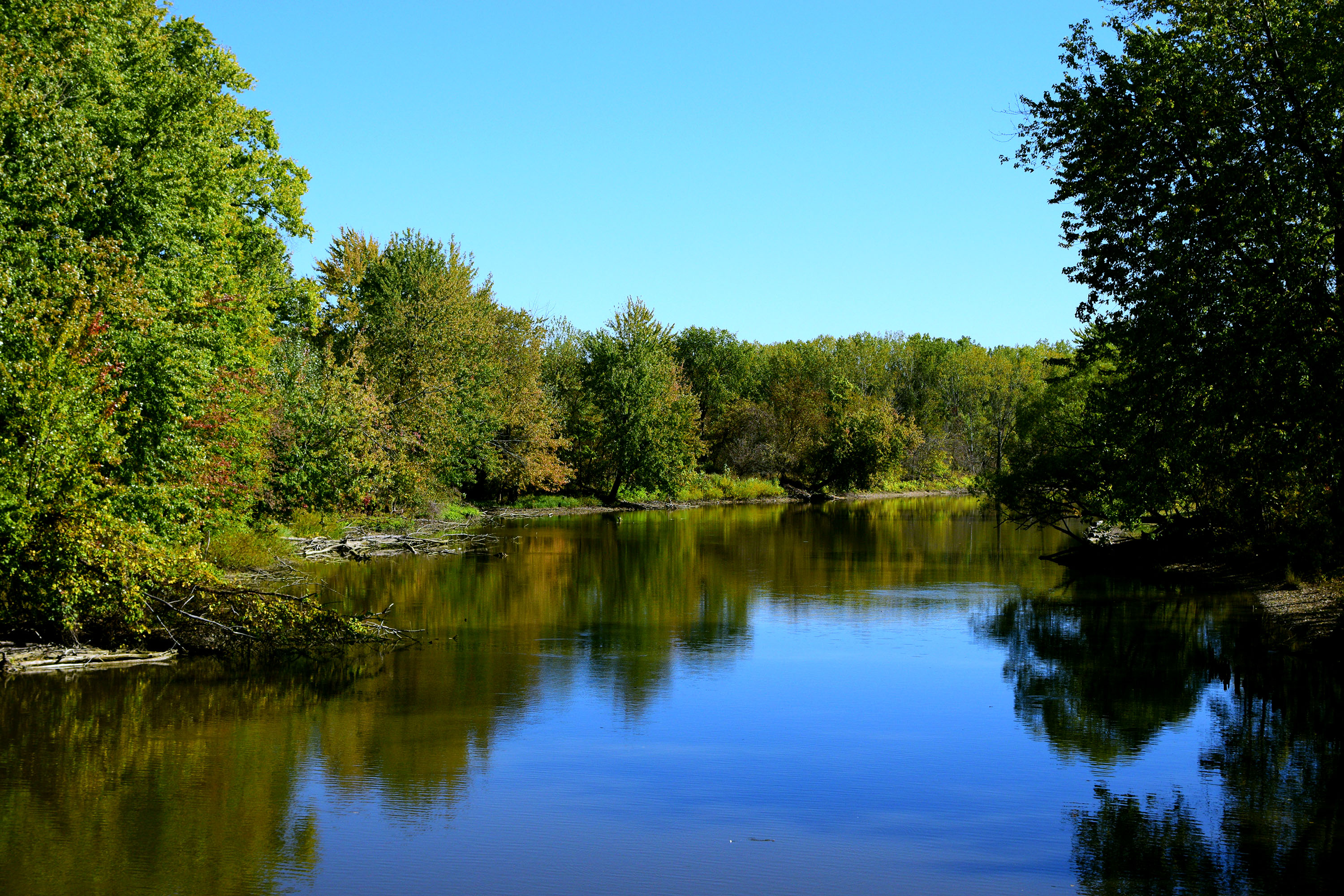 Taken from the old rail bridge on the rail train over the Shiawassee River in St. Charles