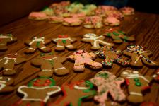 Gingerbread cookies we made