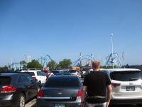Walking up to the Cedar Point gates with Cody