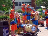 Watching the Cedar Point Beach Band play some music