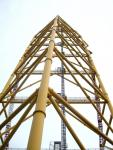 Top Thrill Dragster main tower from below