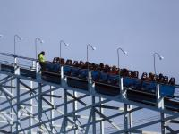 Someone got caught with a cellphone/camera out during the ride on Blue Streak