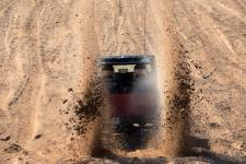 Informal drag races going on during Labor Day weekend on the Silver Lake Sand Dunes