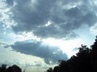 Nice rays of light coming through the clouds on the way home from Solon