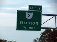 Only a half-mile from Oregon!