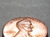 Interesting macro photo of a penny. There was so much light reflecting off it the camera couldn't really handle it and created a rainbow pattern