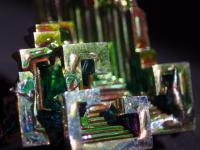 Macro shot of my sister's new bismuth crystal