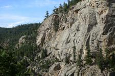 Cliff face in the Rocky Mountains