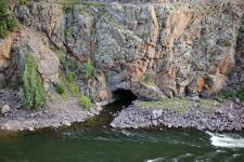 Cave in the Colorado River; Rocky Mountains