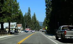 A road through a town in Lake Tahoe
