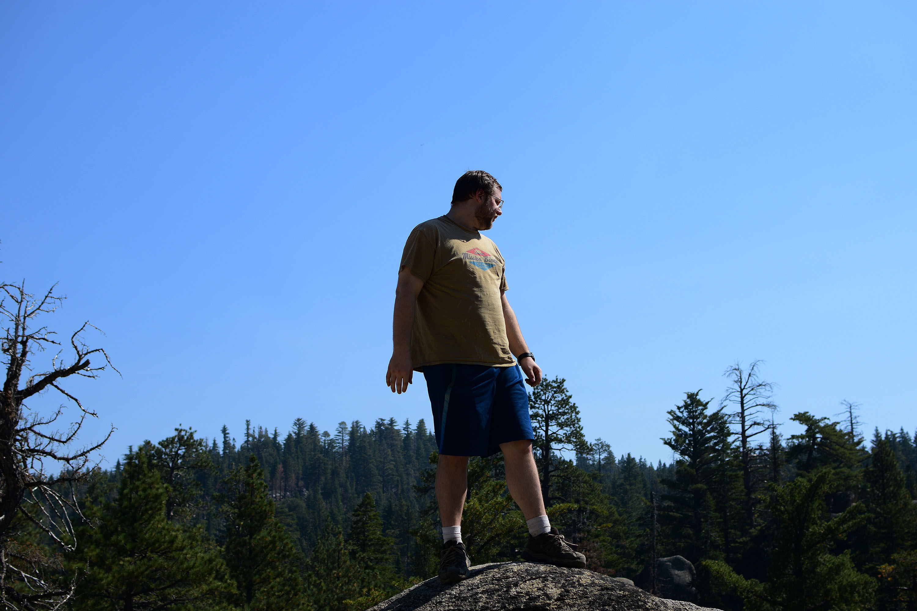 Me standing on a large boulder