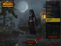 My sister playing around with Worgen at the character screen