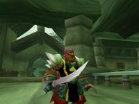 Showing off my armor and weapons at level 54. I hated that stupid claw dagger