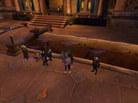 Justice members standing around in Ironforge