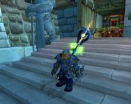 Most of my new transmogrified gear, all blue armor from various 20-30 zones. I'm missing the bow still.