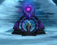Pretty cool screenshot of the warlock gateway thing at the Frozen Throne