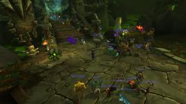 People standing around near the Hellfire Citadel summoning stone near raid time (9pm EST)
